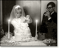 Leanna Gaskins at Wedding Reception, 1966