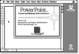Forethought PowerPoint 1.0 About Box