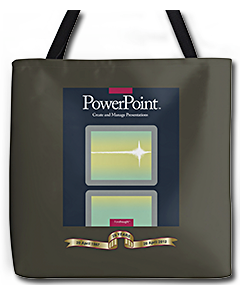 PowerPoint 1.0 1987 tote bag design